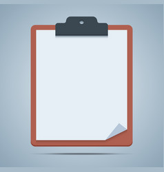 Blank clipboard vector