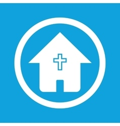 Christian house sign icon vector