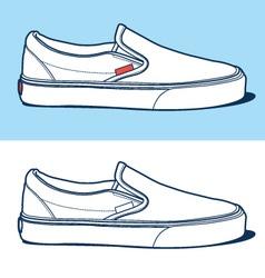 sport shoe vector image