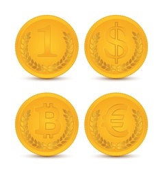 Various coins vector