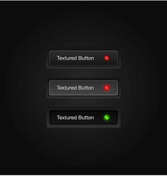 Textured web buttons vector image