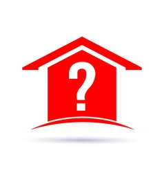 Question house vector image