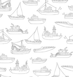 Seamless pencil nautical pattern vector
