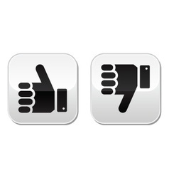Like it Unlike buttons vector image