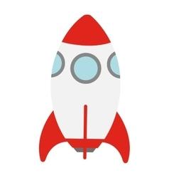 Toy rocket icon vector