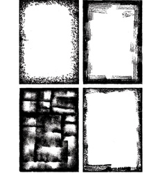 a collection of high detail grunge frames and elem vector image