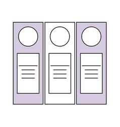 Accountant folder book vector