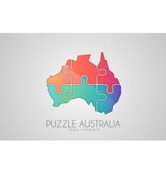 Australia logo puzzle australia creative logo vector
