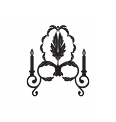 Baroque elegant wall lamp vector
