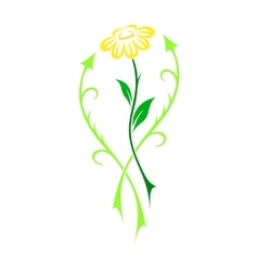 Beautiful flower in tattoo style vector image vector image