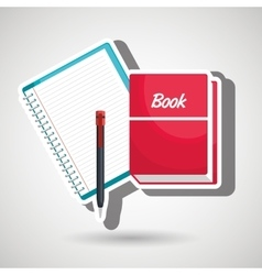 book and notepad isolated icon design vector image vector image