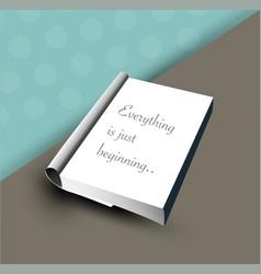 Book template notary vector