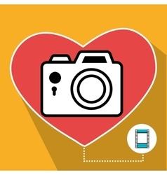 Camera and photography media vector
