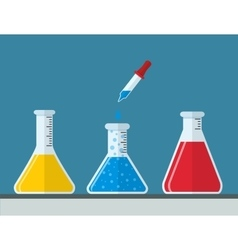Chemistry and medical laboratory vector