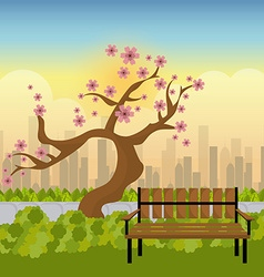 City park design vector image