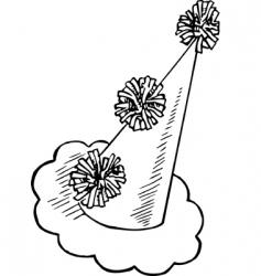 clown cap vector image