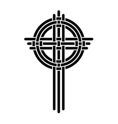 cross as a christian symbol vector image vector image