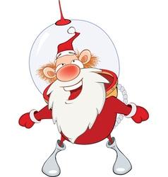 Cute Santa Claus Astronaut vector image vector image