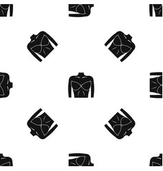 female breast in a bra pattern seamless black vector image vector image