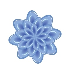 Flower icon unusual glass chrysanthemum floral vector