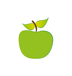 green apple fruit icon stock vector image vector image