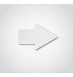 Grey arrow button vector