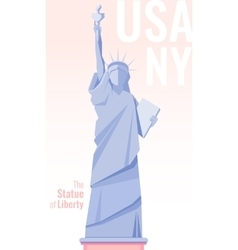 Isolated statue of liberty on background Flat vector image