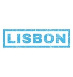 Lisbon rubber stamp vector