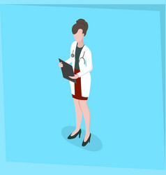 medical staff woman doctor vector image vector image