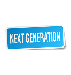 Next generation square sticker on white vector