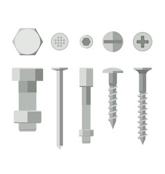screws and bolts vector image vector image