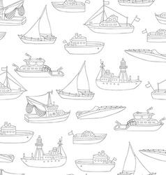Seamless pencil nautical pattern vector