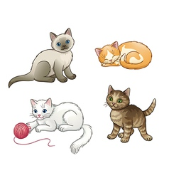 Set of pretty kittens EPS10 vector image