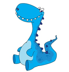 sitting dinosaur vector image vector image
