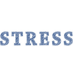 Stress scribble vector