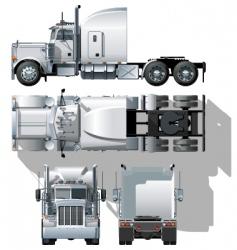 Vector semi truck vector