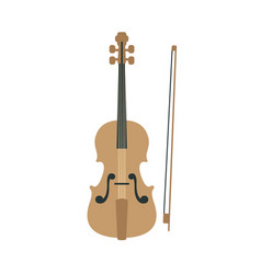 Violin part of musical instruments set of vector