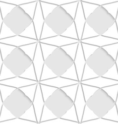 White geometrical ornament with triangles vector image