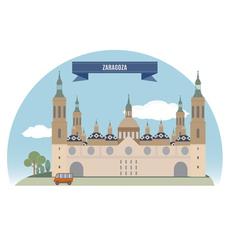 Zaragoza vector image vector image