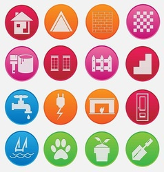 Home icon gradient style vector