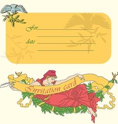 Invitation card in retro style in vector