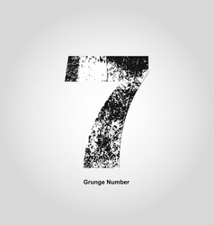 Grunge number one distress damaged object vector