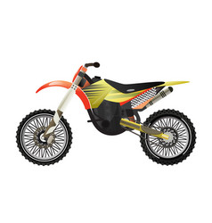 Rally motorbike isolated icon vector