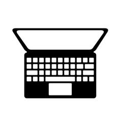 Black icon laptop cartoon vector