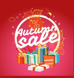 Autumn sale season sale concept vector