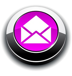 E-mail 3d round button vector