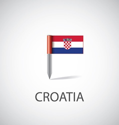 Croatia flag pin vector