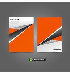 Flyer brochure background templated 019 orange vector
