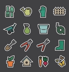 Garden tools icon vector