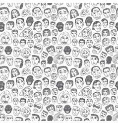 People faces seamless background vector image